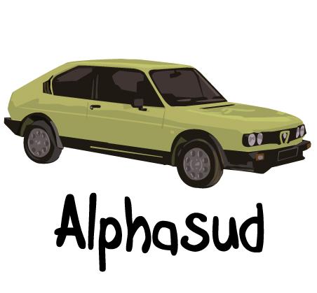 dessin voiture alphasud