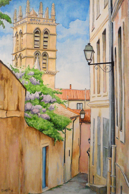 aquarelle montpellier julien dugue