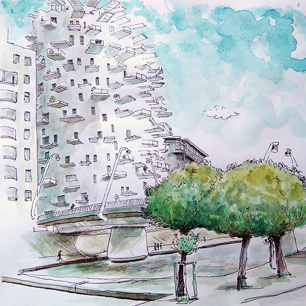 dessin arbre blanc