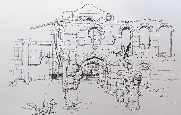 croquis palais gallien