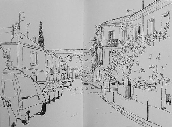 croquis rue montpellier
