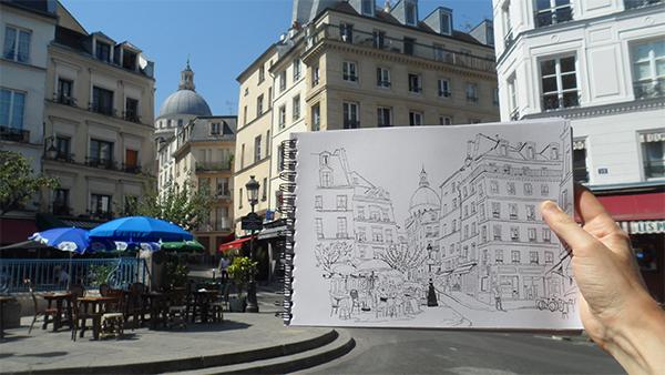 rue descartes croquis paris