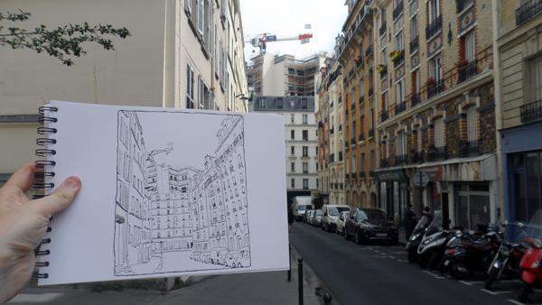 rue des lyonnais croquis paris