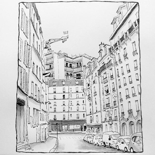 rue de lyonnais croquis paris