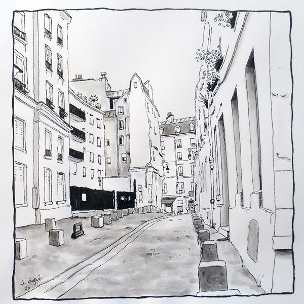 rue rollin croquis paris