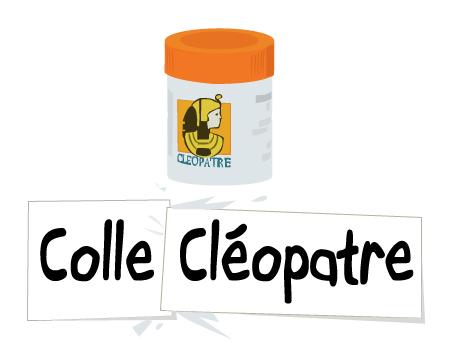 dessin colle cleopatre