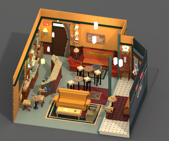 magicavoxel central perk