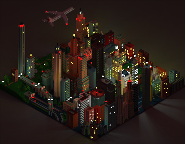 magicavoxel city