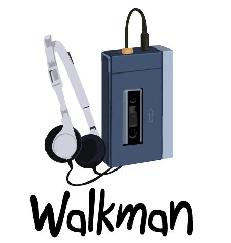 dessin walkman sony